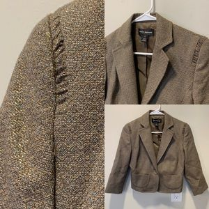 Club Monaco | Cropped Womens Jacket with Metallic